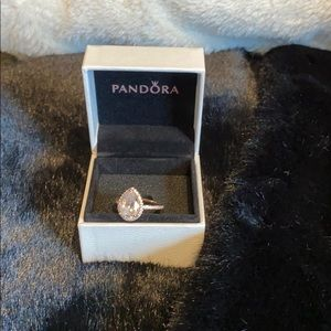 Jewelry - Pandora rose tear drop ring